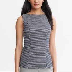 Banana Republic Mad Men Navy Sleeveless Top